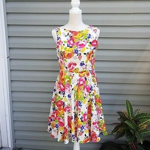Betsey Johnson Fit & Flare Floral Print Dress